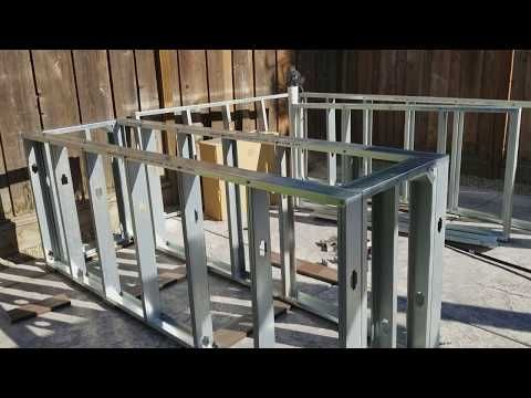 Scottsdale Pre Fab Outdoor Kitchen Frame By Bbqcoach Com Youtube Diy Outdoor Kitchen Build Outdoor Kitchen Outdoor Kitchen