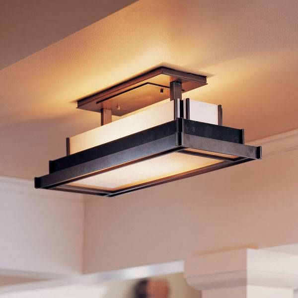 Shop hubbardton forge 123709 steppe rectangle semi flush ceiling flush mount kitchen ceiling light fixtures led stands for light emitting diodes and such lights are popular for kitchen l mozeypictures Gallery