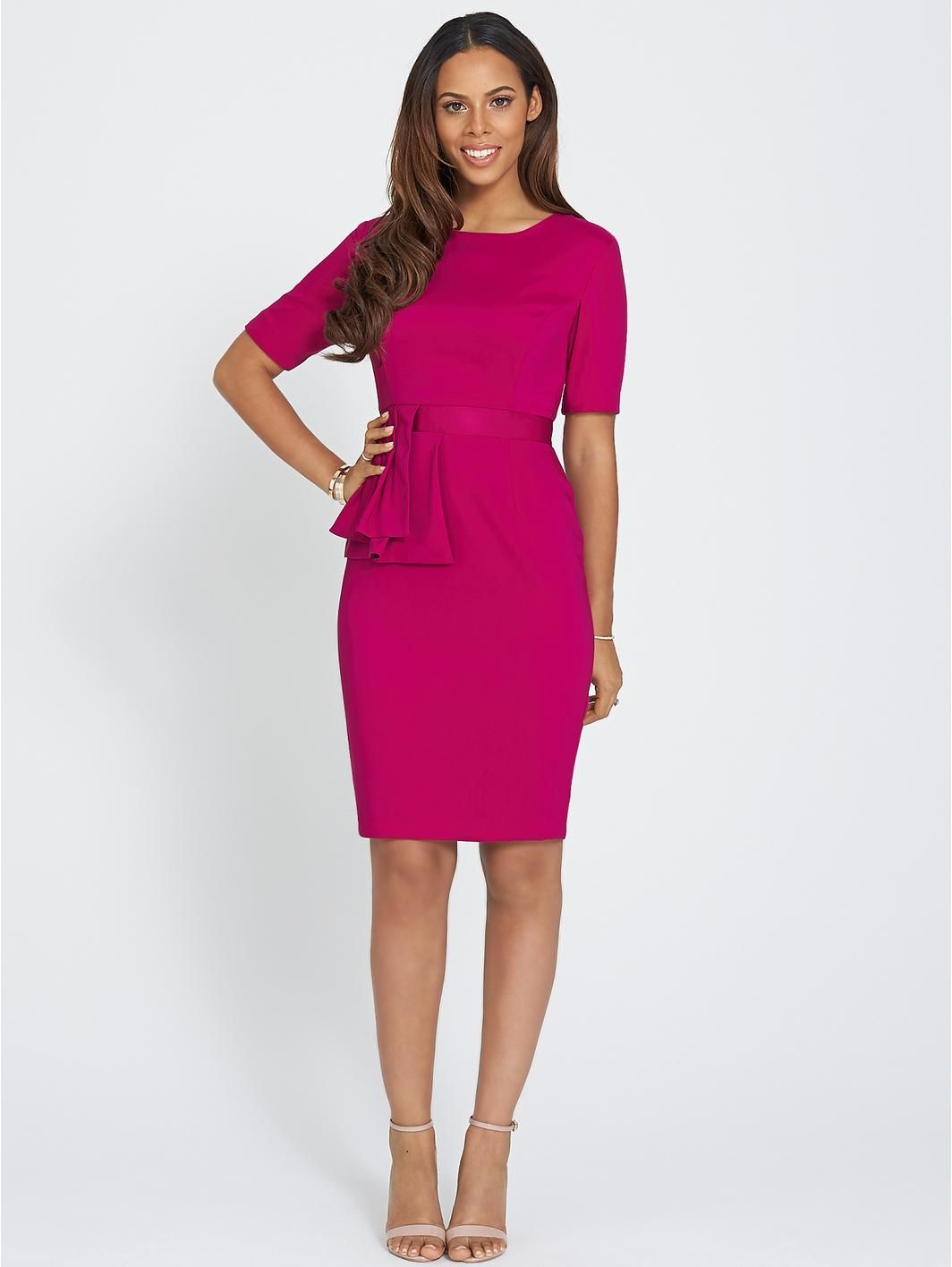 Pleated Peplum Dress, http://www.very.co.uk/rochelle-humes-pleated ...