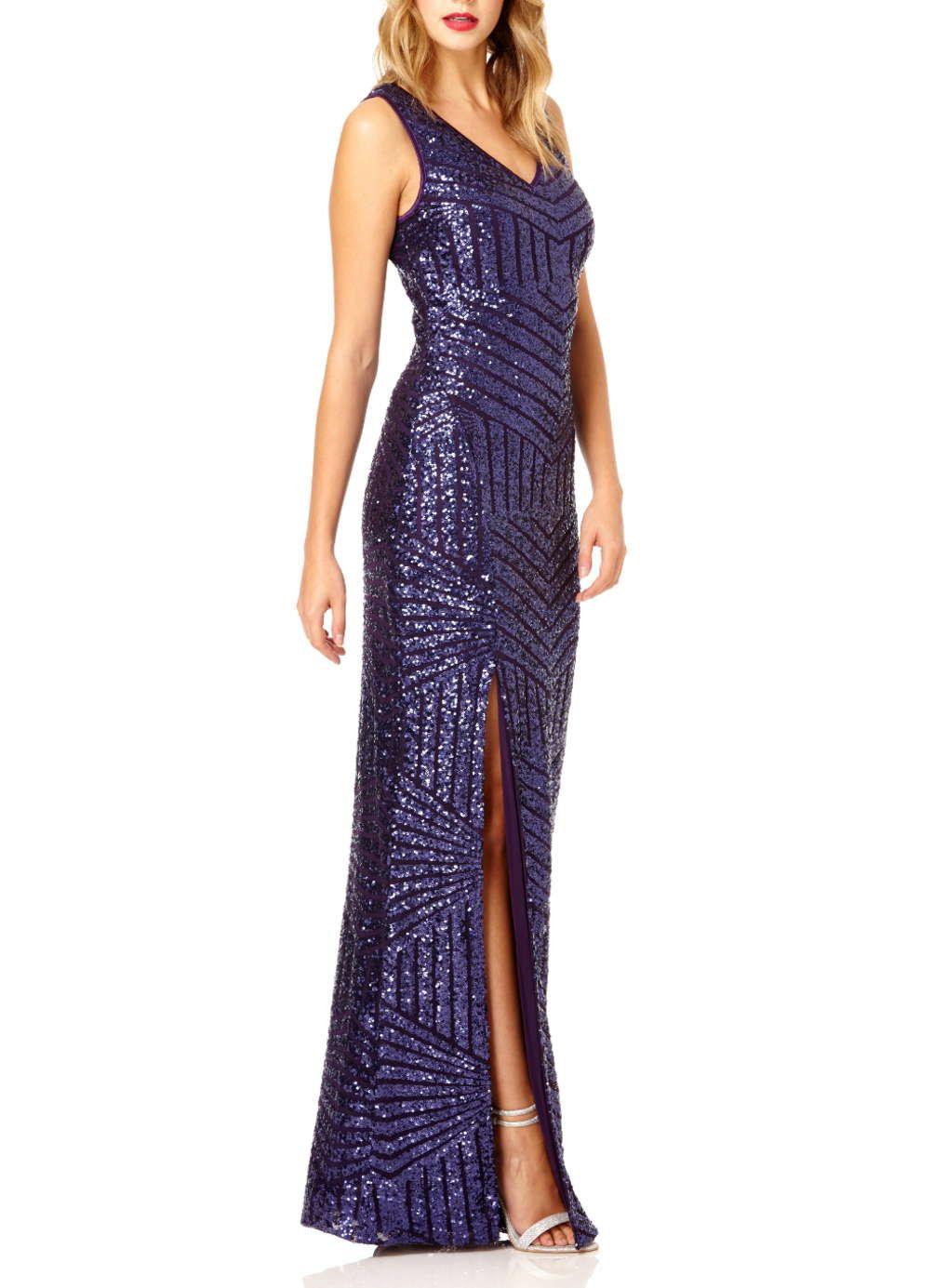 Quiz v neck sequin maxi dress view all sequin maxi maxi dresses