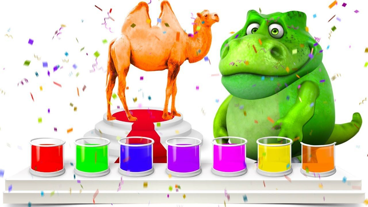 COLORFUL CAMEL ⏩ Squishy Dinosaur ⏩ Coloring Pages for Kids ...