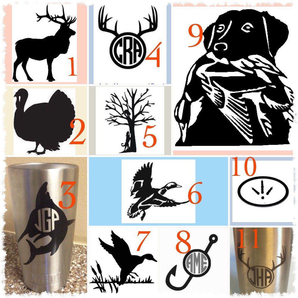 Details About Deer Fish Duck Vinyl Decal CarTruckYetiLaptop - Vinyl for cup