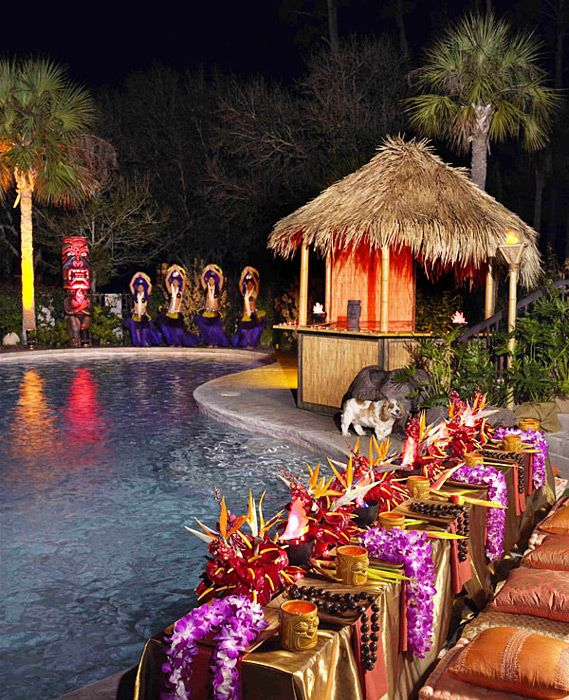 Hawaiian Themed Wedding Ideas: Hawaii Luau Pool Party Ideas