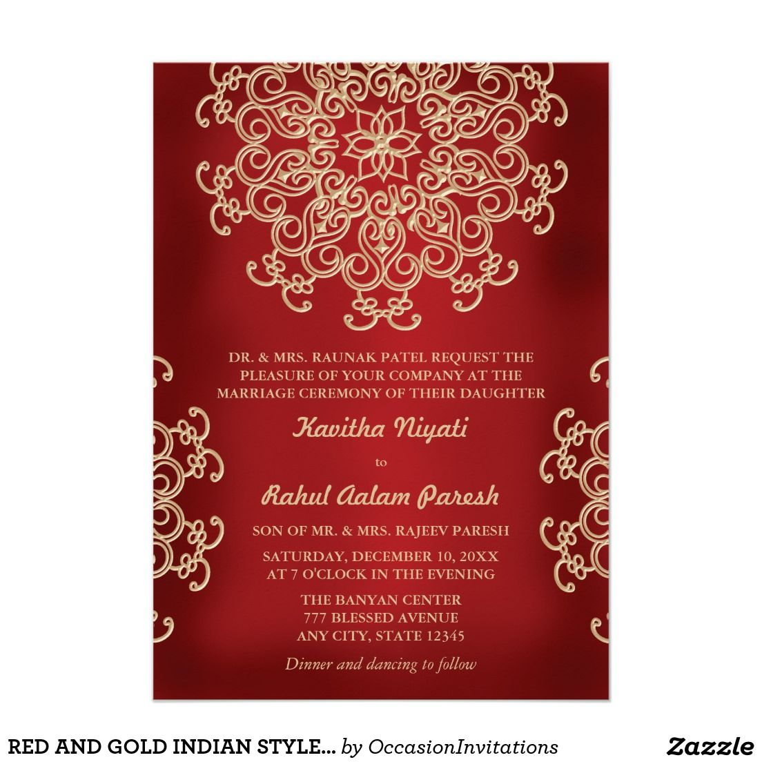 Colorful Indian Style Wedding Invitations Ornament Resume Ideas