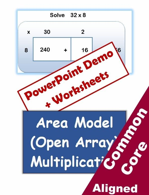 Area Model Multiplication Lesson And Worksheets Math Pinterest