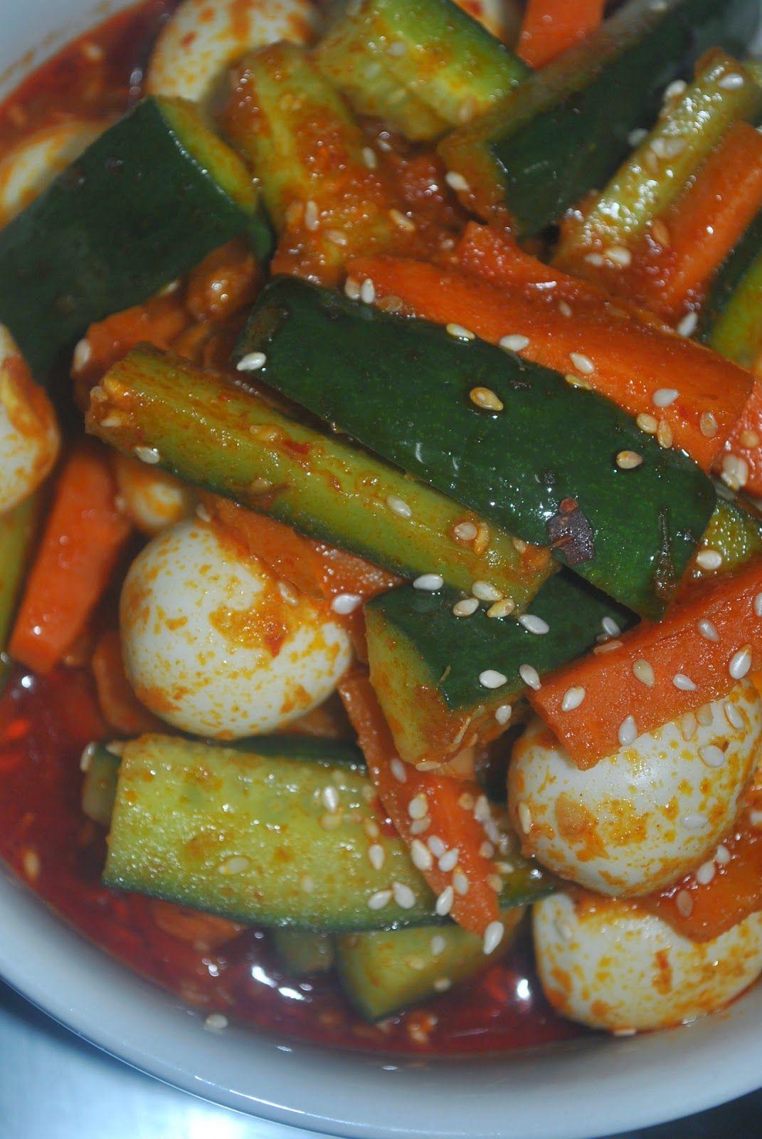 Patyskitchen Acar Rampai Telur Puyuh Recipes Food Cucumber