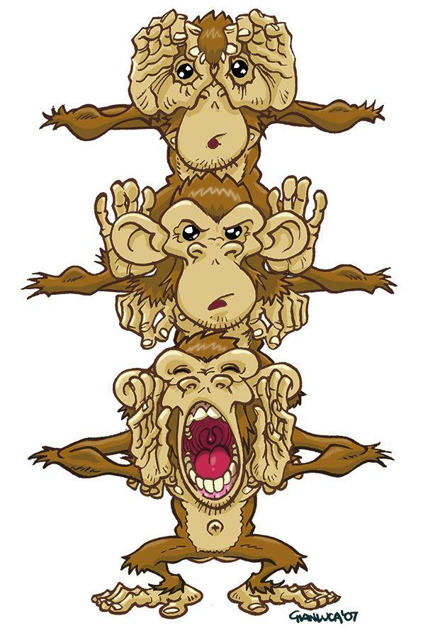 c59f2aef4 Three Monkeys by gianmac.deviantart.com on @deviantART | Places to ...