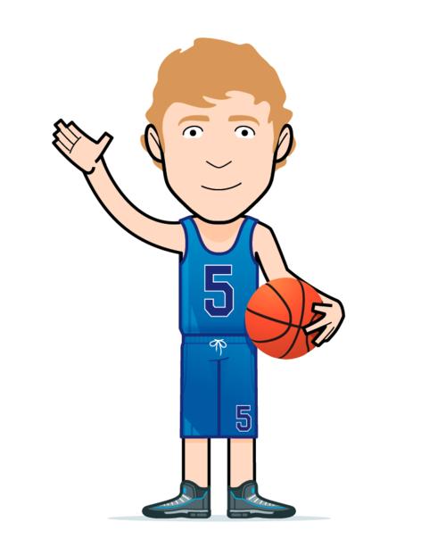 Cartoon Basketball Boy Illustration Design Illustrated Map Halftone Pattern