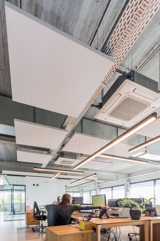 Comment Suspendre Un Plateau Au Plafond plafond acoustique myo - dalles acoustiques i myopenspace