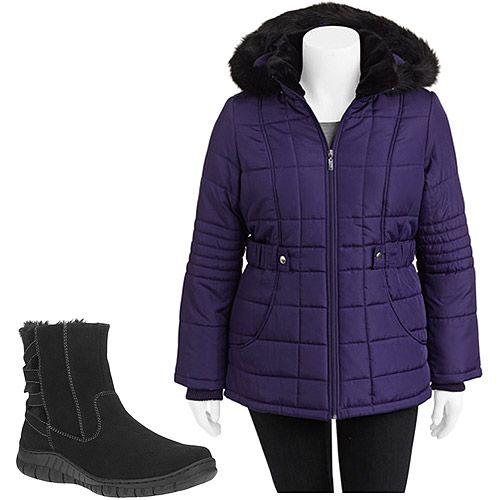 womens trendy plus size winter coats a line sequined black button up hoods  2014 02 # - Womens Trendy Plus Size Winter Coats A Line Sequined Black Button