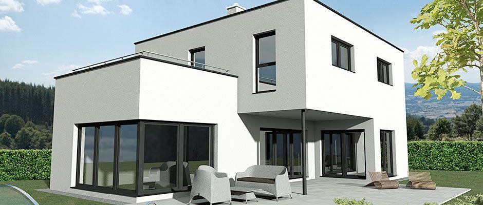 flach 162 das 162 m2 malli haus mit flachdach h user haus bauhausstil haus und kubus haus. Black Bedroom Furniture Sets. Home Design Ideas