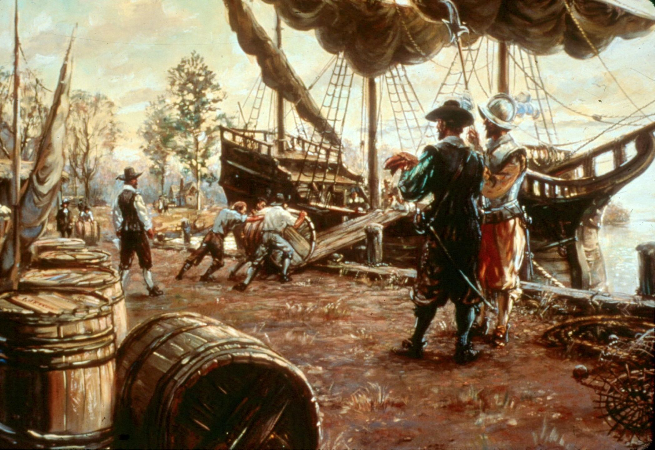 a history of the first english settlers in america The first pilgrims to reach america seeking religious freedom were english and settled in massachusetts right well, not so fast some fifty years before the mayflower left port, a band of french .