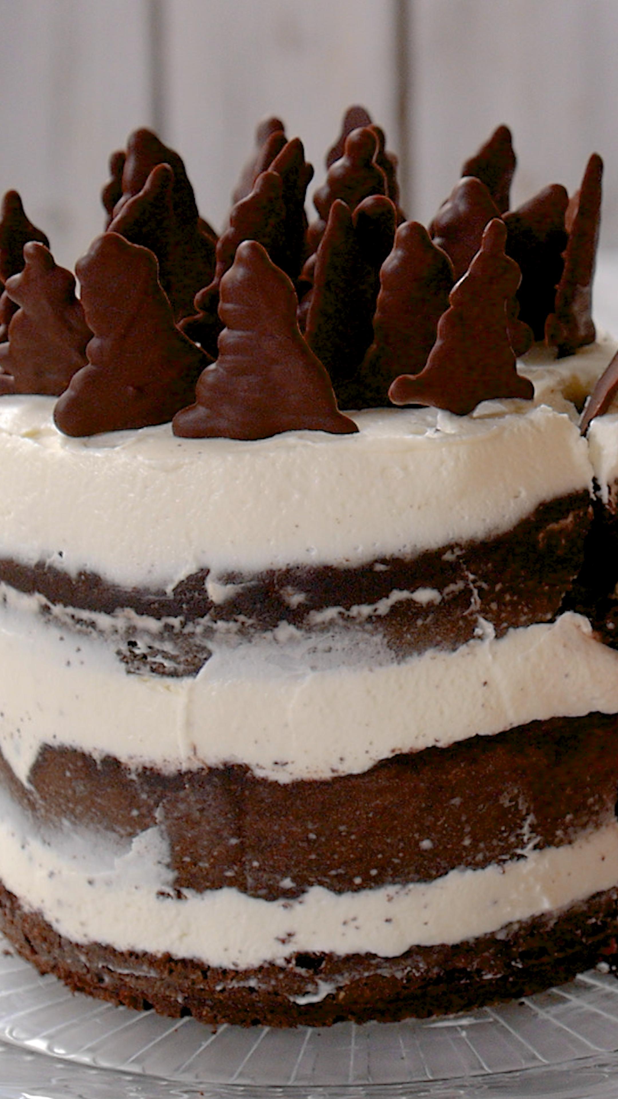Naked cake forêt noire