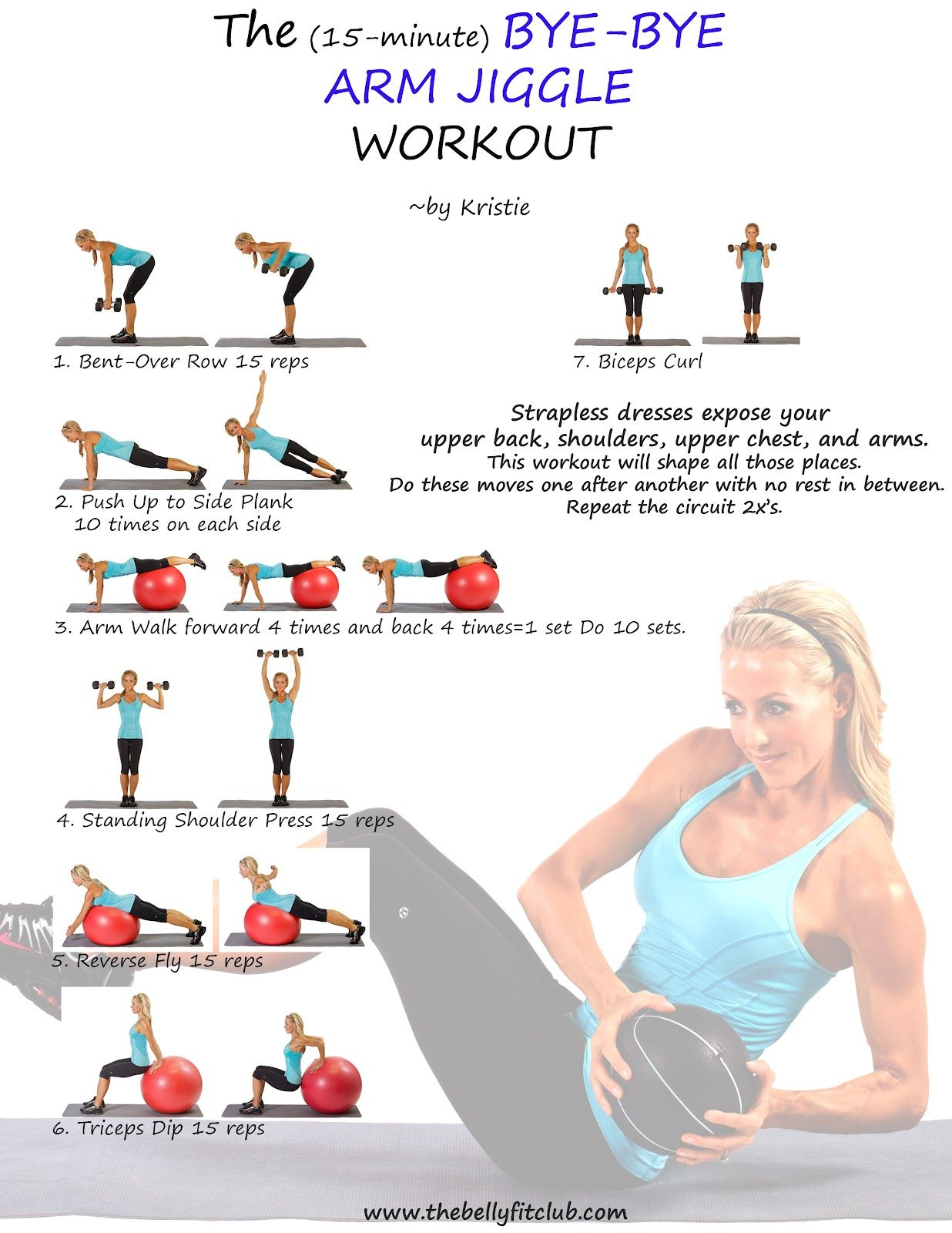 Watch The (15 Minute) Bye-Bye Arm Jiggle Workout video