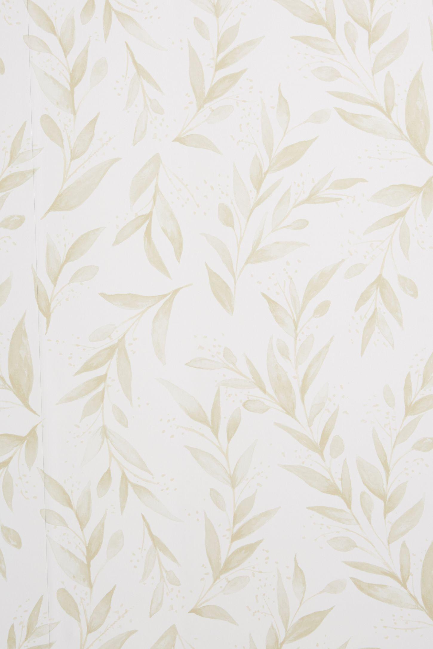 Magnolia Home Olive Branch Wallpaper Beige wallpaper