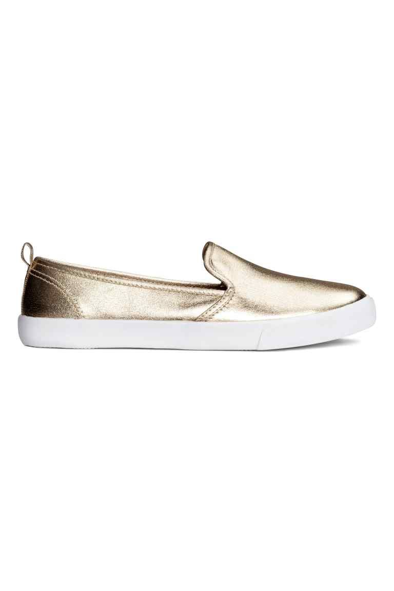 Slip-on sneakers - Goudkleurig - DAMES | H&M BE 1
