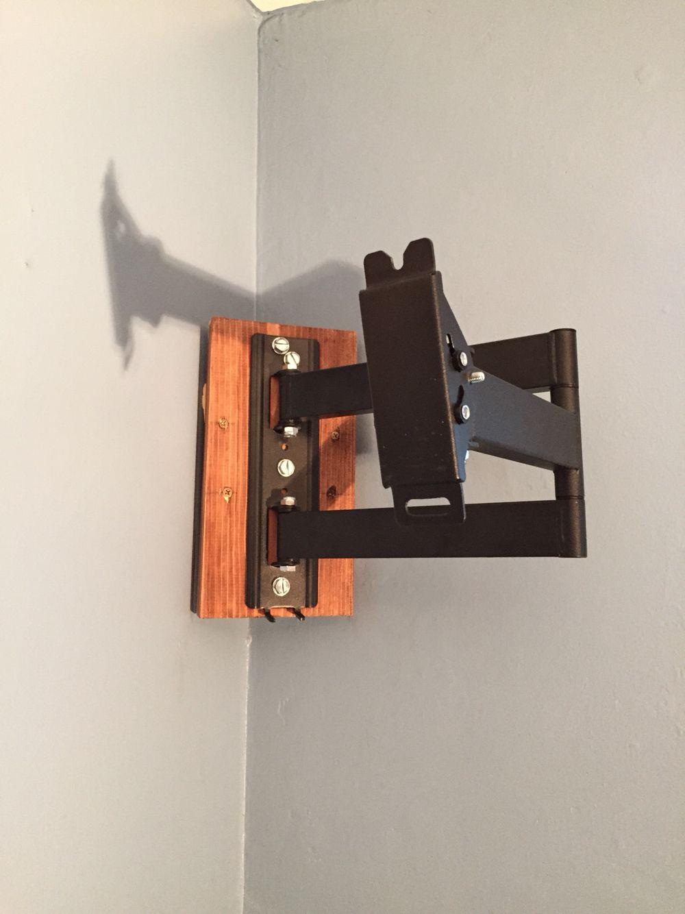 corner tv mount my diys pinterest corner tv mount and corner tv. Black Bedroom Furniture Sets. Home Design Ideas