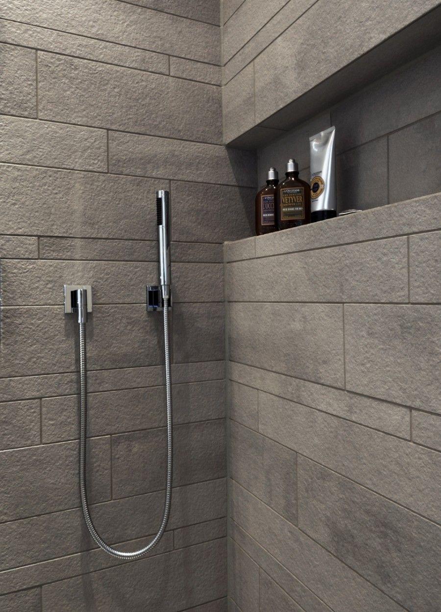 Neue Modernes Duschbad Im Denkmalgeschutzten Gebaude Schramm Kombinationen Badkamerideeen Badkamer Badkamer Douche Tegels