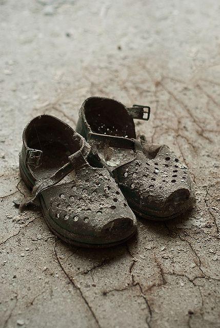 Pripyat Kindergarten Child's Shoes by jamescharlick, via Flickr