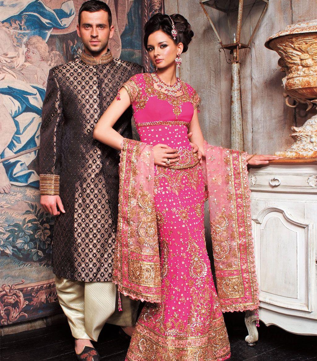 Fushia/Peach Gota Bridal | Collection of Indian saris | Pinterest ...
