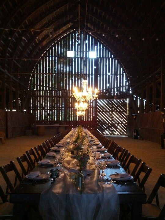 Gorgeous barn- wedding I was at this weekend :)