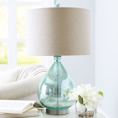 Teal Teardrop Luxe Lamp Lamps Table Lamps For Bedroom