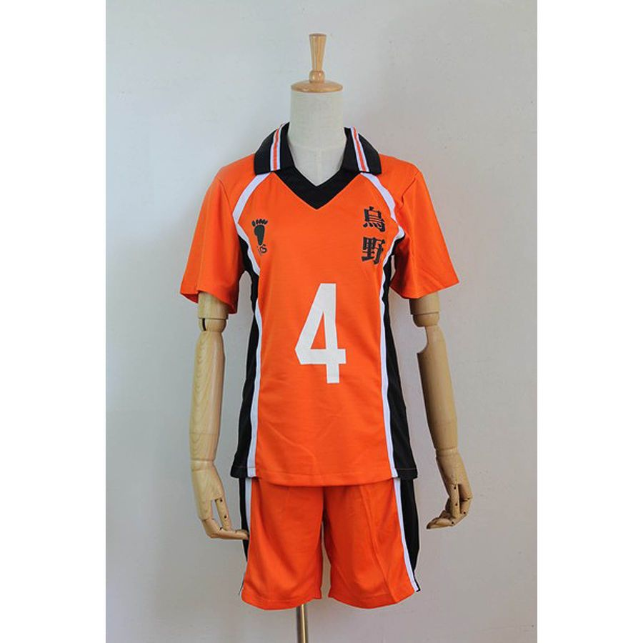Haikyuu Karasuno Scuola Secondaria Uniforme Jersey No 4 Yuu Nishinoya Cosplay Scuola Secondaria Haikyuu High School Uniform Jersey Shirt Haikyuu