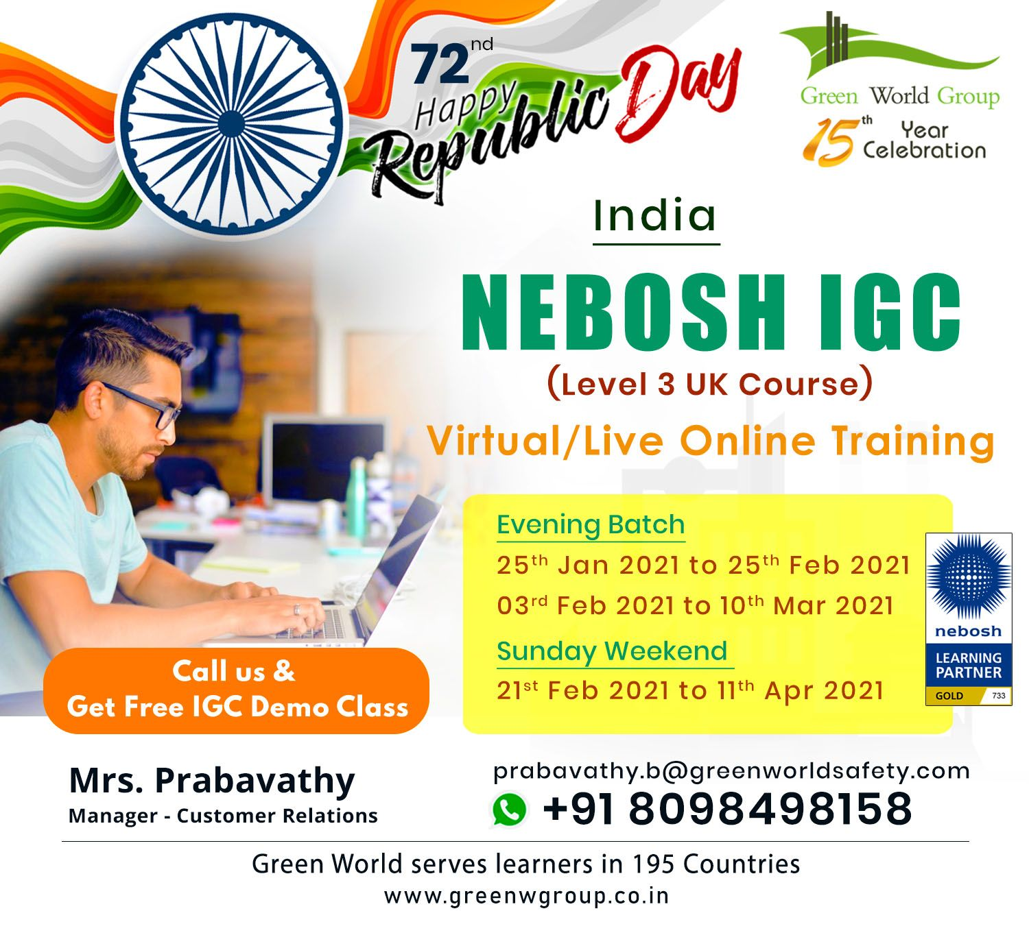 Join the nebosh course in coimbatore this republic day and