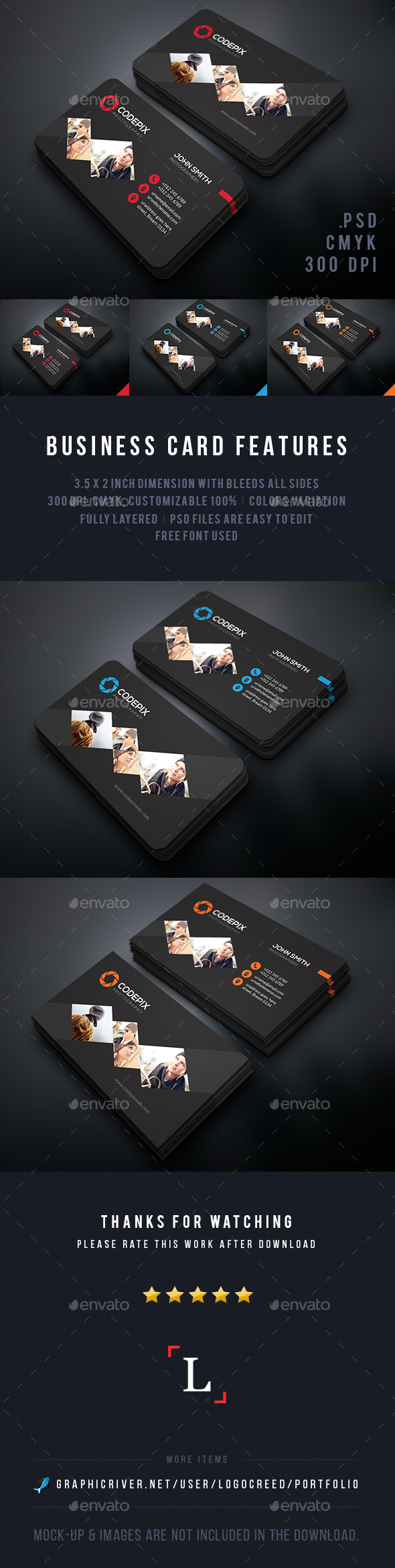 Photography Business Cards Template PSD #design Download: http://graphicriver.net/item/photography-business-cards/13801305?ref=ksioks