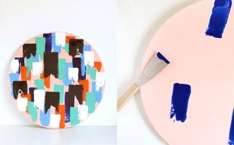Mit Spachtel Und Farbe Ein Asbtraktes Bild Selber Machen Kunst