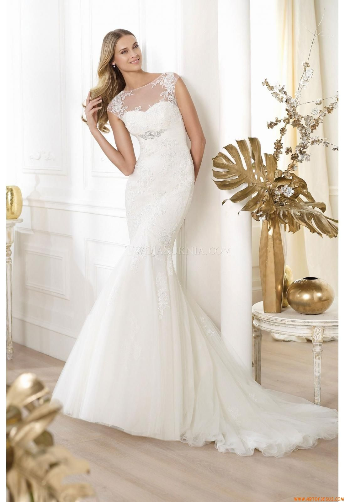 Brautkleider Pronovias Leonde 2014 | modest wedding dresses ...