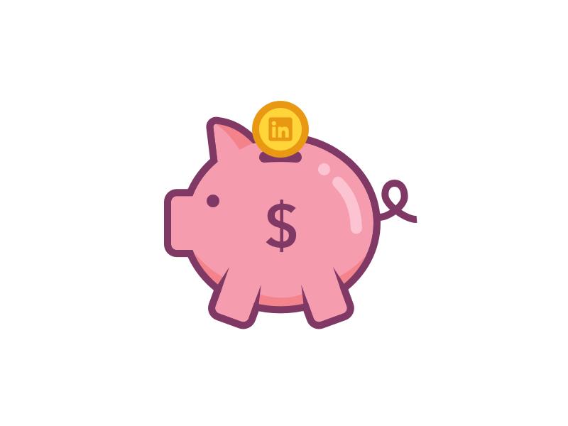 Linkedin Piggy Bank Sticker Money Logo Stickers Banks Icon