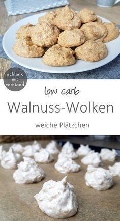 low carb Walnuss-Wolken #lowcarbsnacks low carb Walnuss-Wolken Das sind weiche low carb Makronen mit Walnüssen und einem Hauch Zimt. Sehr leckere und schnell zubereitete Plätzchen mit wenig Kohlenhydraten.