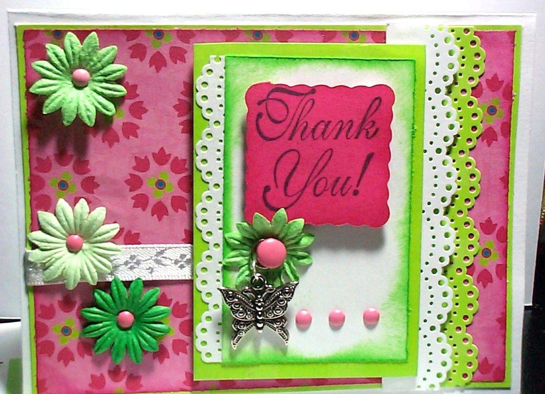 Thank you greeting card handmade greeting cards pinterest thank you greeting card handmade kristyandbryce Choice Image