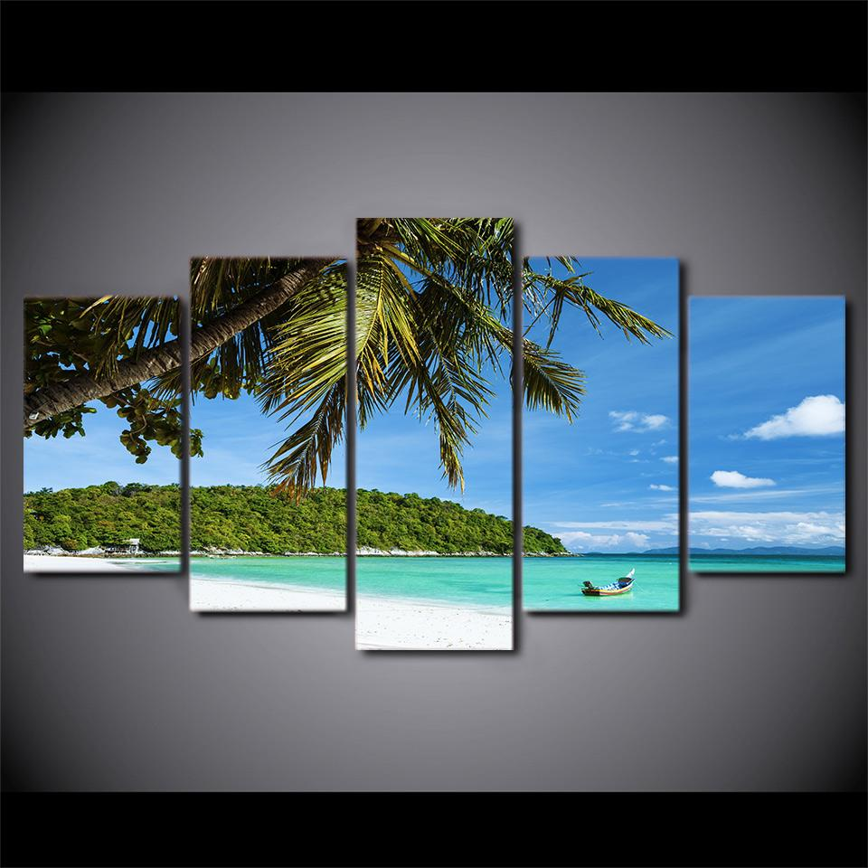 HD Home Decor Canvas Prints island and ocean scenery Wall Art Painting Picture