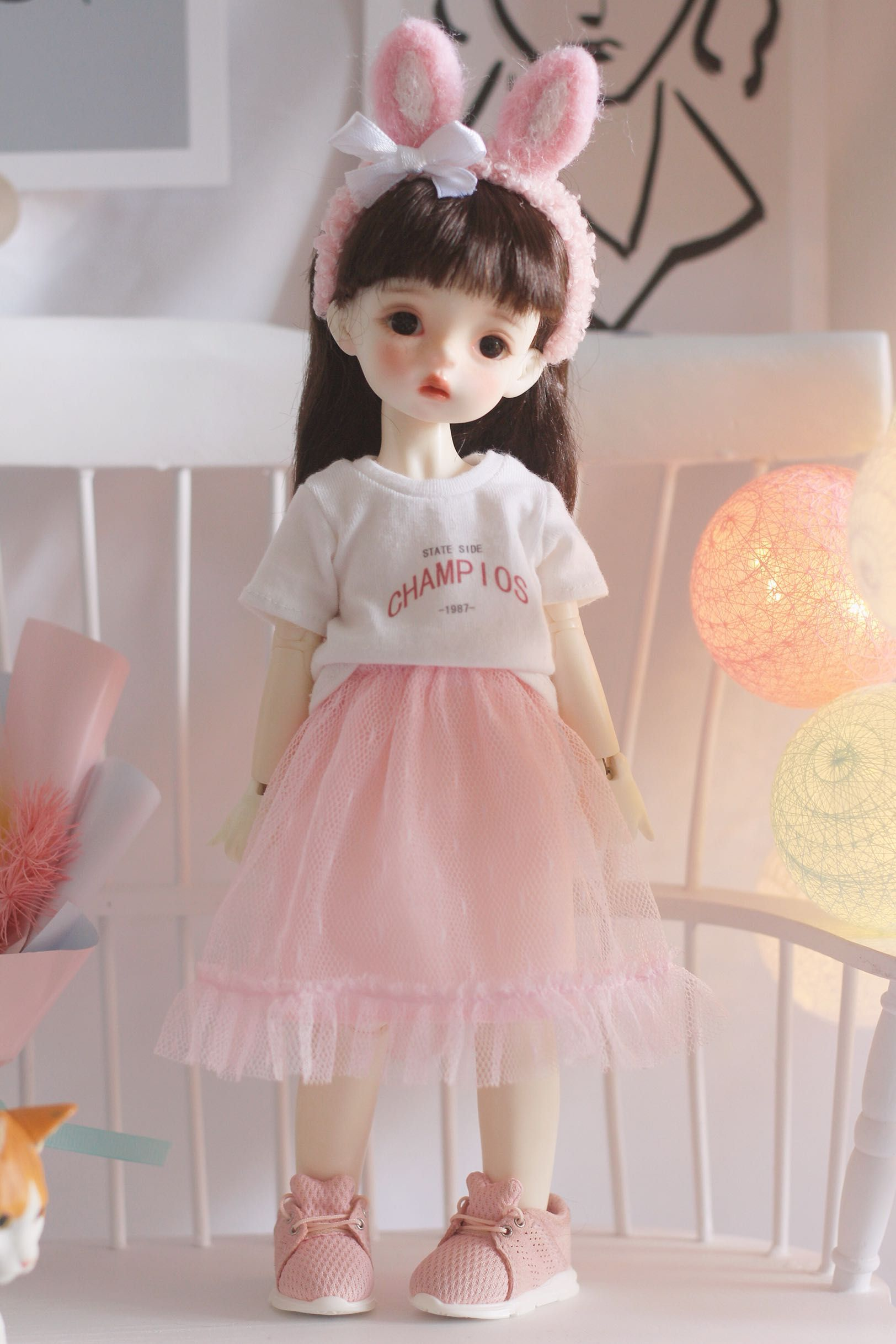 Doll Two-pieces Outfits Shirt Top /& Trousers Jeans For 1//6 Blythe Azone Doll