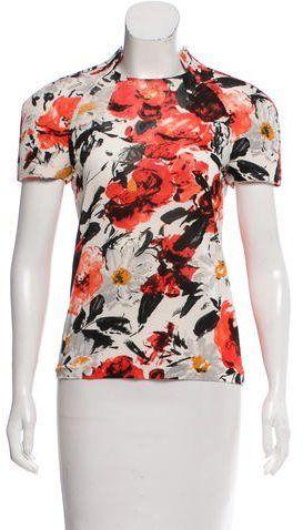 b8f83deaa47aa Balenciaga Floral Semi-Sheer Top
