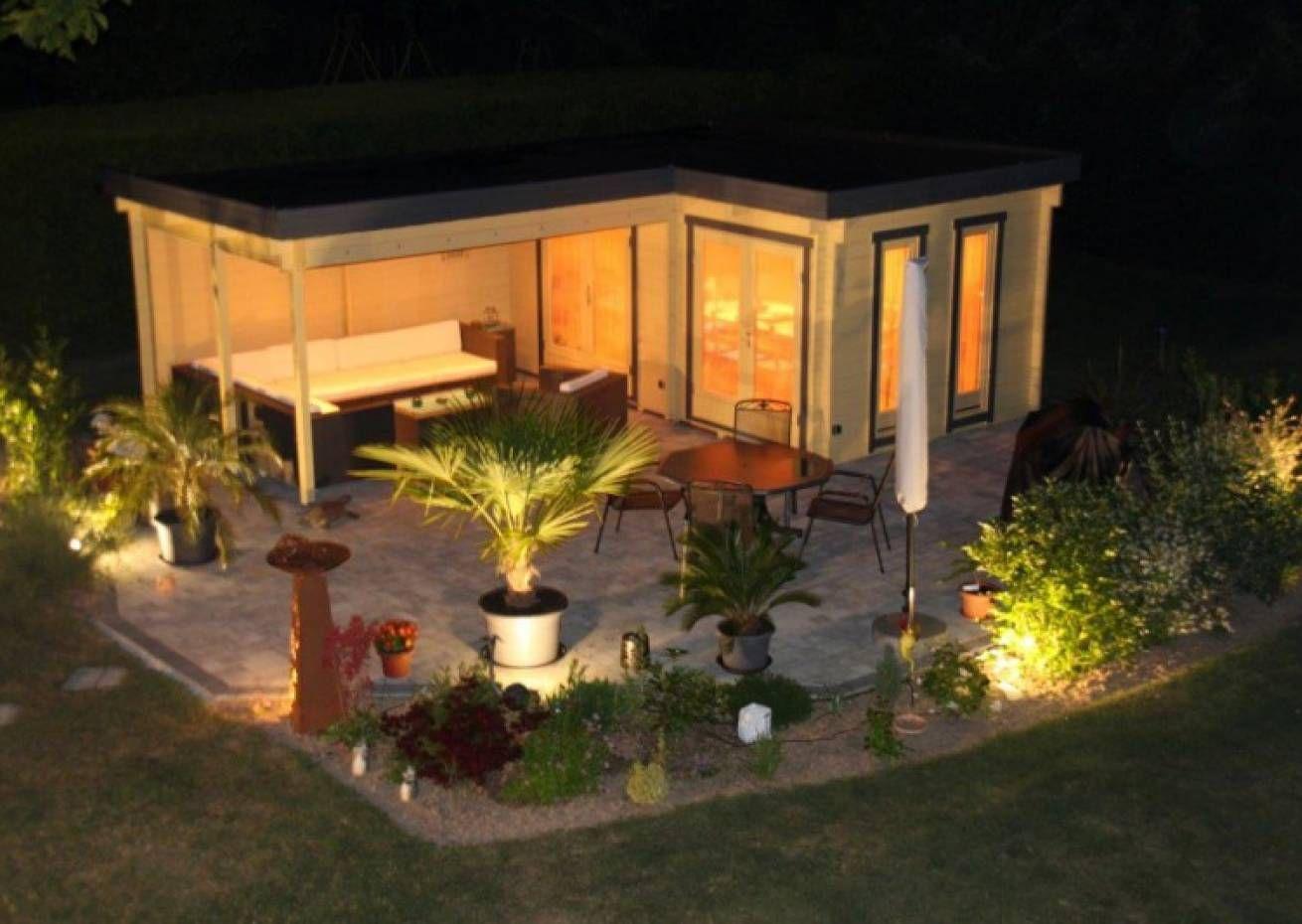 Flachdach Gartenhaus Modell Quinta Iso Flachdach Gartenhaus Gartenhaus Zeitgenossischer Garten