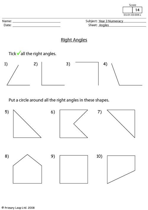Image Result For Right Angles Worksheets Marisa Pinterest