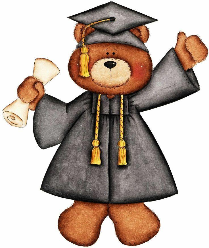 teddy bear graduation clipart buscar con google graduation rh pinterest com graduation clipart 2017 graduation clipart free
