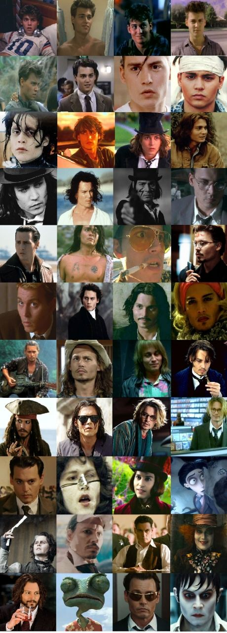 Johnny Depp Every Character In Order Men Pinterest Johnny