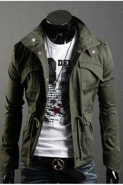 Men's Slim Fit Military Style Jacket