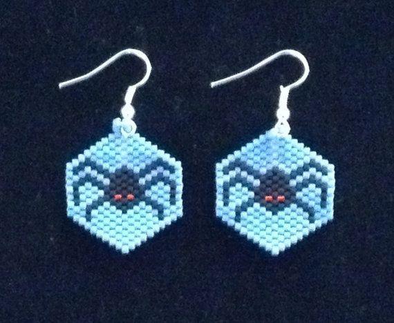 beaded spider earrings pattern - Google Search | halloween | Pinterest