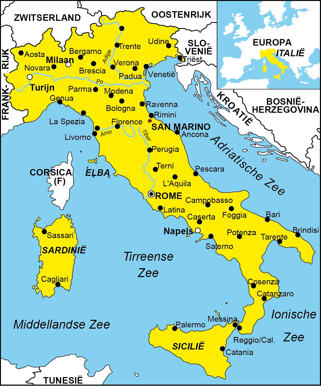 Italie Turijn Milaan Oostenrijk