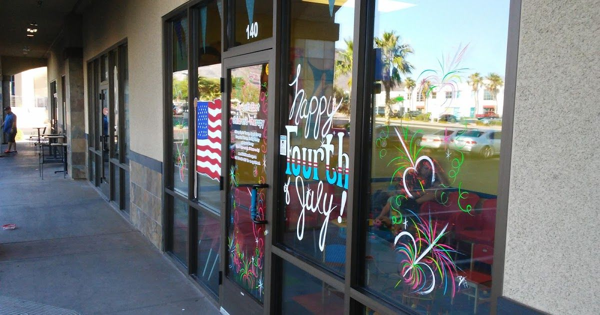 Blog about Holiday Window Painting, Christmas Windows, and painting