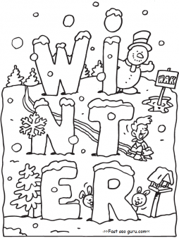 free printable winter coloring pages for preschoolers