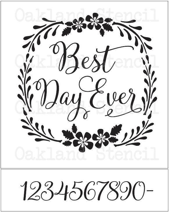 Wedding Stencil Best Day Ever 3 Sizes To Choose For Signs Wood Gifts Crafts Wedding Stencils Wedding Signs Diy Stencils