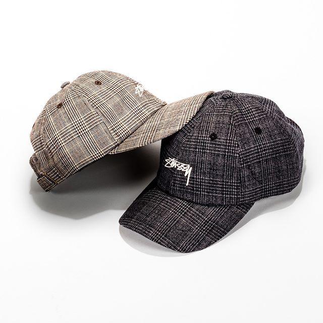2dc09b07a099de STUSSY GLEN PLAID CAP - The Stussy Glen Plaid Low Pro Cap has hit the