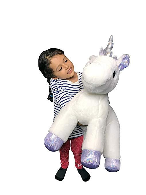Amazon Com Xxl Size Unicorn Pillow Plush Toy Kid Babies Nursery
