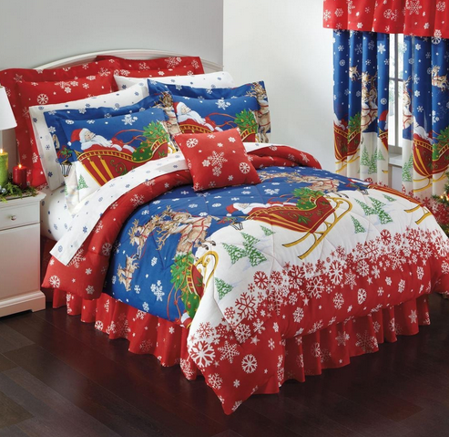 Christmas Bedspreads And Quilts.Christmas Bedspreads And Comforters Pictures Of Santa Claus